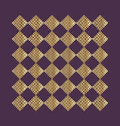 gold geometric pattern on a dark background vector image