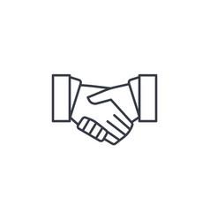 handshake thin line icon linear symbol vector image vector image