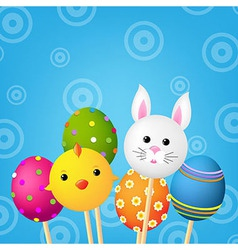 Happy Easter Color Card vector image