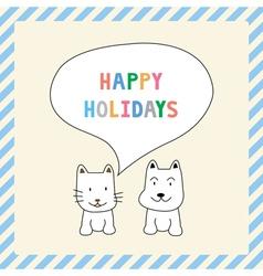 Happy holidays13 vector