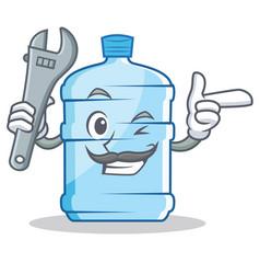Mechanic gallon character cartoon style vector