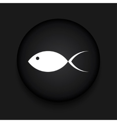 Modern fish black circle icon vector