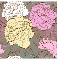 Peonies seamless vector image vector image