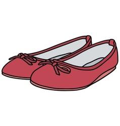 Pink flats vector image