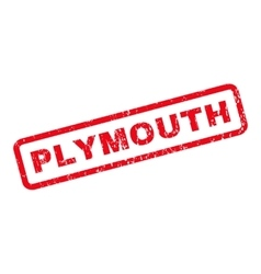 Plymouth rubber stamp vector