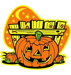Pumpkin patch vector image vector image