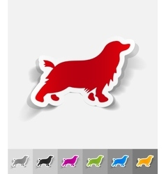 Realistic design element spaniel vector