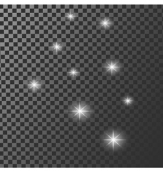 Set of glowing light effect stars bursts vector image