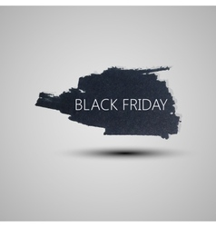Splash grunge watercolor background black friday vector