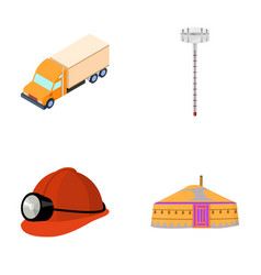 Truck alcohol meter and other web icon in cartoon vector