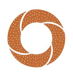 Turkish bagel icon vector