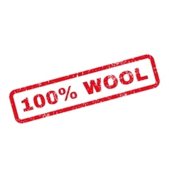 100 percent wool text rubber stamp vector