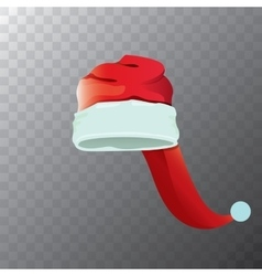 Cartoon funky red santa hat icon vector