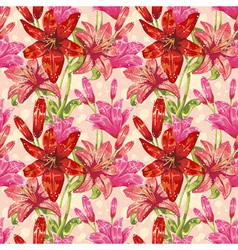 Colorful stylish spring floral seamless pattern vector
