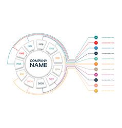 infographic timeline with company milestones vector image