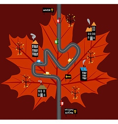 Way to fall vector image