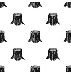tree stump icon in black style isolated on white vector image