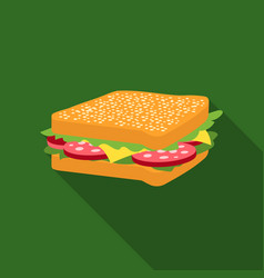 Sandwich icon in flat style for web vector