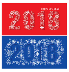 2018 new year banners with snowflakes vector