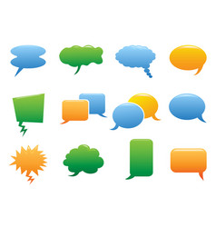 Color speech bubble icons vector