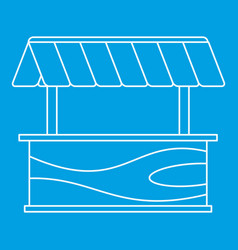 Street stall with awning icon outline style vector