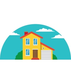 Townhouse flat house vector