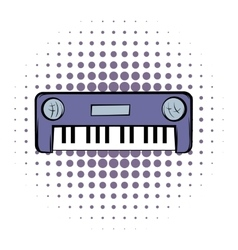 Synthesizer comics icon vector