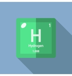 Chemical element Hydrogen Flat vector image