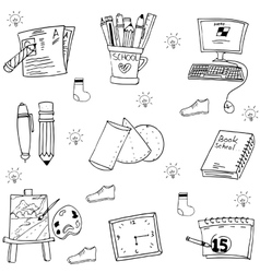 Object school doodles art vector