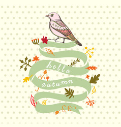 A bird hand made background vector