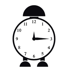 Alarm clock icon simple style vector