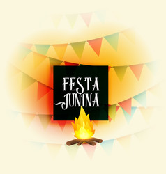 American festa junina holiday background vector