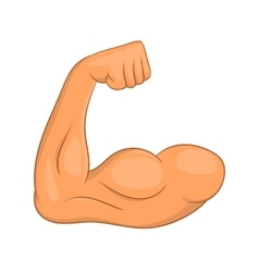 Biceps hands icon cartoon style vector