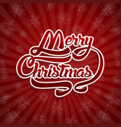 christmas greeting card text merry christmas vector image