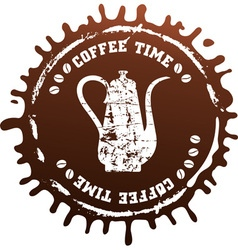 coffee splash vector image vector image