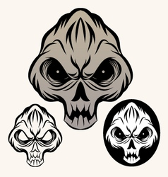 devil-skull vector image vector image