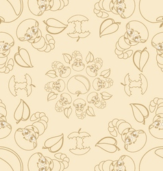 Funny caterpallars seamless pattern vector