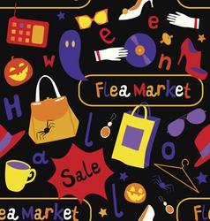 Halloween sale seamless pattern vector