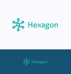 Hexagon group logo vector