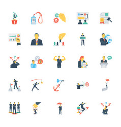 Human resources and management icons 10 vector