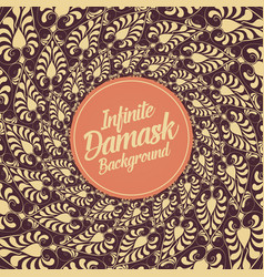 Infinite damask background classical vector