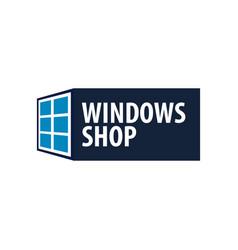 Logo windows store installer company vector