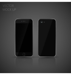 mock up phone for your design of front and back vector image vector image