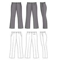 pants vector image