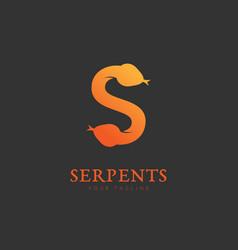 serpents logo vector image