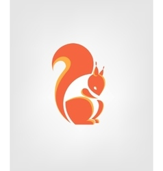 Squirrel sign squirrel vector image
