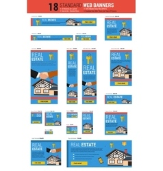 Standard size web banners - real estate vector