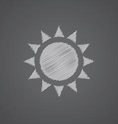sun sketch logo doodle icon vector image vector image