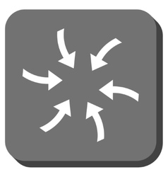 Twirl arrows rounded square icon vector