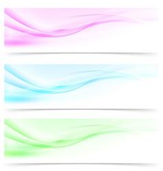 Web modern abstract swoosh line web header vector